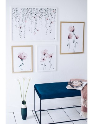 Flower branch poster horizontal
