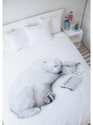 Polar bear bedding