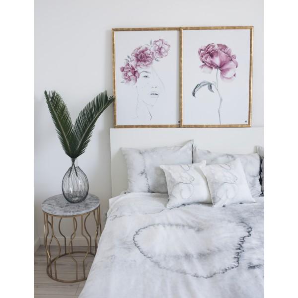 """Peony flower"" poster set"
