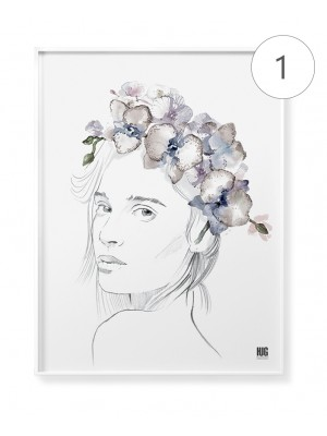"""Orchid flowers"" poster set"