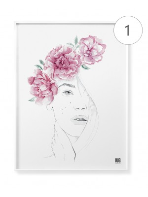 """Watercolor flowers"" poster set"