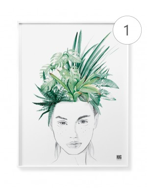 """Watercolor women"" poster set"