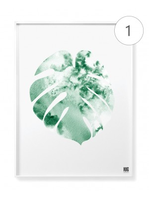 """Tropical garden"" poster set"