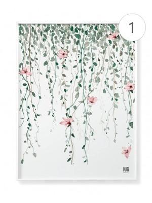 """Zestaw plakatów """"Różowy ogród"""""""