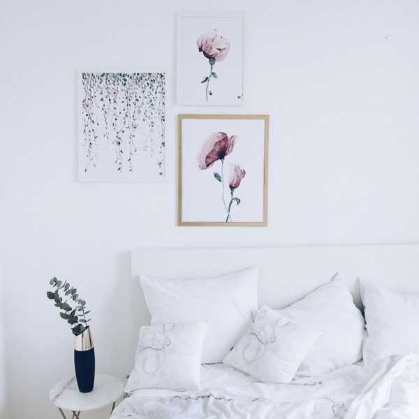 """Pink garden"" poster set"