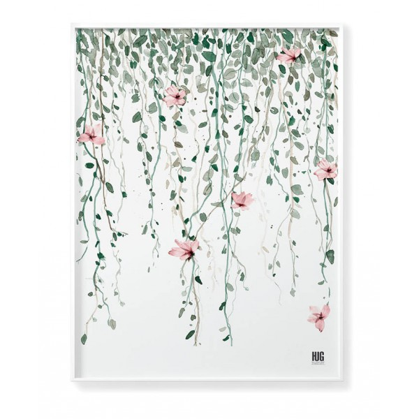 Flower branch poster vertical